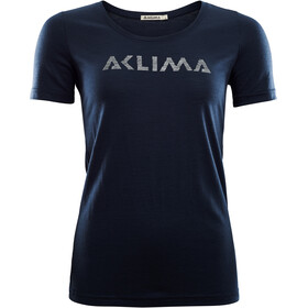 Aclima LightWool T-Shirt Donna, navy blazer